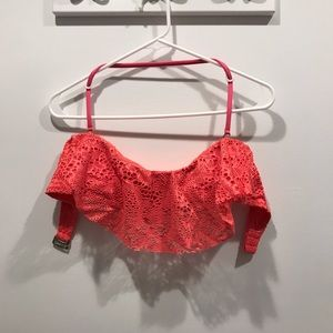Mossimo coral bikini top with removable straps